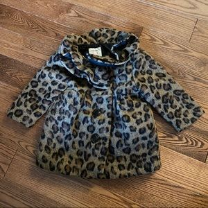 🛍3/$25 Old Navy leopard print coat 12-18 months